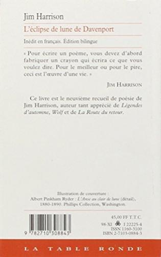 Léclipse De Lune De Davenport Et Autres Poèmes Viabooks