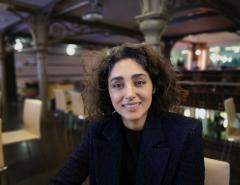 Golshifteh Farahani à la Maison des Métallos lors de la cérémonie de remise des prix de France Libertés. Photo Olivia Phélip.