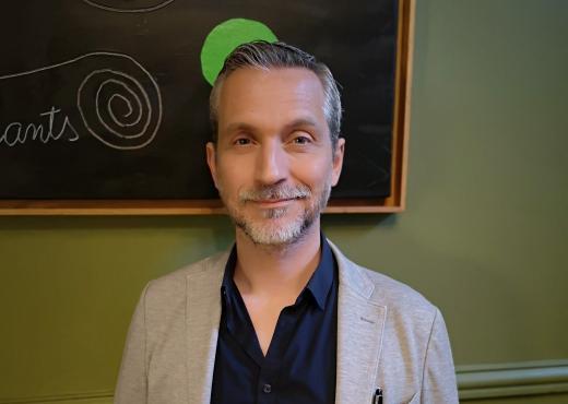 Olivier Norek à la Maison de l'Amérique latine. Photo Viabooks.