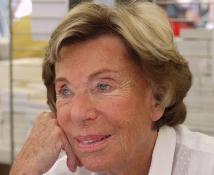 Benoîte Groult photographiée en 2010 à la Comédie du LIvre de Montpellier; Photo Wikipedia;