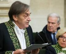 Alain Finkielkraut pendant son discours à l'Académie