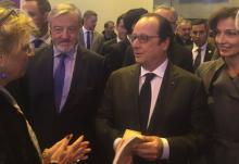 Francois Hollande et Audrey Azoulay inaugure Livre Paris 2016