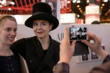 Amélie Nothomb, toujours présente à Livre Paris