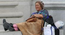 Femme sans abri.Photo Wikipedia.