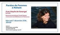 Paroles de Femmes à Nohant avec Maylis de Kerangal
